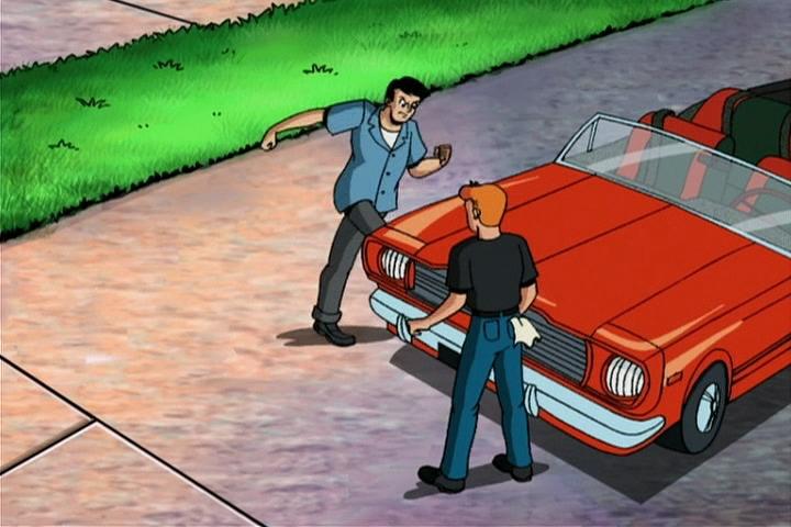 AWM-02-Driven-to-Distraction-23-Reggie-kicks-car