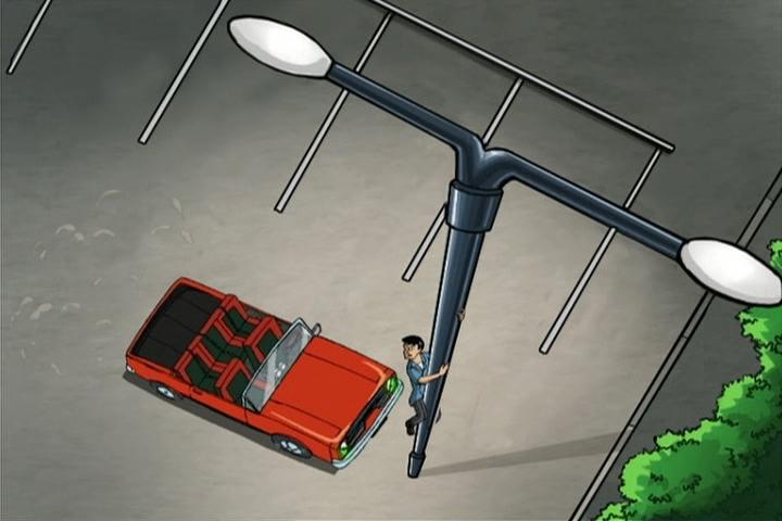 AWM-02-Driven-to-Distraction-76-Reggie-climbs-pole